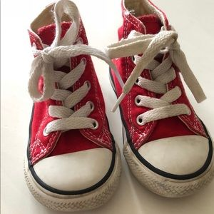 Toddler High Top Converse Size 5 Red